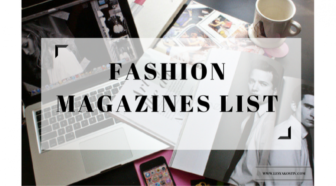 Fashion Magazines list